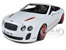 2012 2013 BENTLEY CONTINENTAL SUPERSPORTS ISR WHITE  1/18 CAR BY BBURAGO 11035