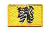 EAST FLANDERS FLAG PATCH PATCHES  BADGE IRON ON NEW EMBROIDERED