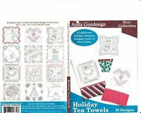 Anita Goodesign Holiday Tea Towels Embroidery Machine Design CD NEW 91MAGHD