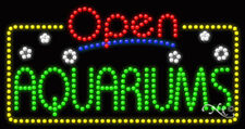"New ""Open Aquariums"" 32x17 Solid/Animated Led Sign W/Custom Options 25448"