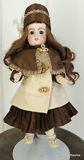 """French Jumeau 16"""" Marked Jointed Real Human Hair? Mohair? Doll"""
