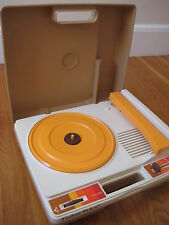 Vintage Fisher Price RECORD PLAYER kid phonograph toy suitcase retro travel case
