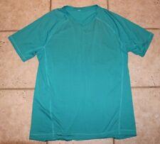 Lululemon Mens Large XL Short Sleeve Teal Slight V Neck Shirt