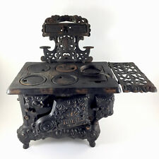 Antique Kenton Royal Cast Iron Stove Miniature Salesmen Sample w/ Skillet
