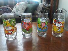 Vintage McDonald's Peanuts Camp Snoopy Glasses Set of 4 Charlie Brown
