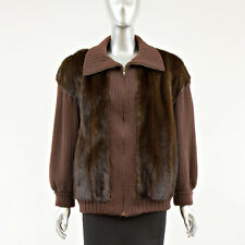Knit Sweater with Mink Fur - Size M