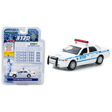 Greenlight 2011 Ford Crown Victoria Interceptor NYPD Police Car White 1:64 42822