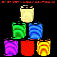 110V 220V LED Flex Neon Rope Light Holiday Party Garden Decor Outdoor Waterproof