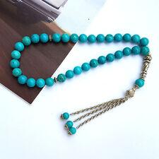 New 8x6mm Turquoise 33 Prayer beads Islamic Muslim Tasbih Rosary Misbaha bead