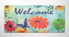 """Bright Florals Welcome Sassafras Switch Mat  22""""x10"""" Evergreen Door Mats"""