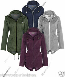 Plus Size 18 20 22 24 NEW RAIN MAC Ladies PARKA Shower Womens RAINCOAT Festival