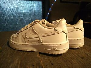 Nike Air Force 1 BG Low White Basketball Shoes Size 5.5y