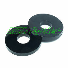 BLACK Nylon Plastic M4 PENNY WASHERS OD=12.0mm, ID=4.3mm, T=2.0mm Pack of 25