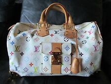 Louis Vuitton Hand Tasche Bag Sac Speedy 40 Multicolor Monogram Canvas groß