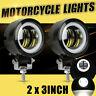 "2pcs 3"" LED Arbeitsscheinwerfer Angel Eyes Driving Spot Lampe Motorrad Auto LKW"