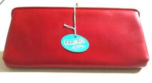 Vintage 70s Harry Levine HL Red Kar E All Twin Purses Clutch Purse NOS in Box