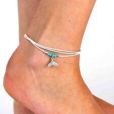 Bohemian Personality Pendant Turquoise Fins Beaded Bracelet Explosive Anklet