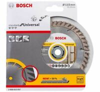 "BOSCH DIAMOND BLADE 115mm 4 1/2"" UNIVERSAL 2608615057 DIAMOND CUTTING DISC 115mm"