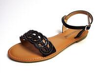 Sandalen Riemchen Sandaletten Damenschuhe Claudia Ghizzani schwarz 36 - 41 Neu5