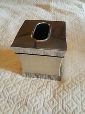 Tissue Box Cover silver color and cream bed bath and beyond