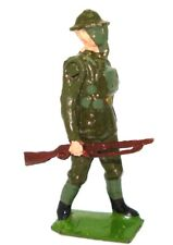BRITAINS PRE-WAR SET 1627 USA SOLDIERS IN ACTION - 1939 - MARCHING FIGURE MINT