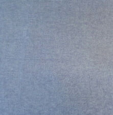 "56"" Blue Cotton Chambray Fashion Fabric Light Weight By The Yard"