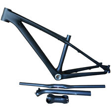 26er Mountain MTB Bike Carbon Frames with Carbon Handlebar+Seatpost+Stem 14 inch