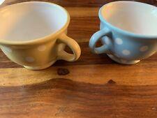 Pair Of Ceramic Polka Dot Laura Ashley Mugs