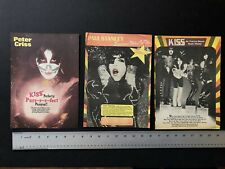 "KISS 3 Late 1970's Original Full Page 8.5X11"" 16 Magazine Clippings"