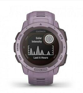 Garmin Instinct Solar Rugged Outdoor Smartwatch - Orchid (010-02293-09)