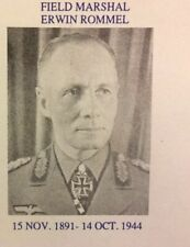 Erwin Rommel Collector's Envelope - REAL PHOTO CACHET POSTAL HISTORY COVER