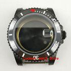 40mm Stainless steel black watch case fit ETA2836 Miyota 8215 Automatic movement