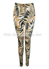 Women's Skinny Animal Zebra Leopard Cheetah Print Leggings Stretchy Jeggings
