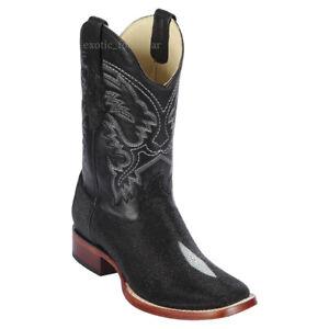 "Men's Los Altos Genuine Single Stone Stingray Boots 11"" Shaft Medium D Width"