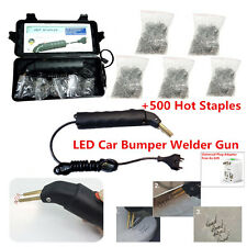 LED Hot Stapler Plastic Repair Kit Car Bumper Welder Gun with 500Pcs Hot Staples