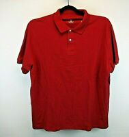 DXL Short Sleeve Men's 3XL Polo Shirt Red Solid New With Tags Elastic Sleeves