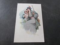 Carte Postale Vintage Illustré Années 20 Never Shipped Lettrage À Crayon sur Dos