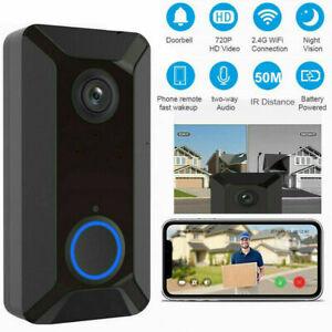 Smart Doorbell WiFi Wireless Video Intercom Door Ring Security Camera Bell 720P