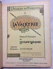 SCARCE Wilder FRENCH Version CIRCA 1890 RICHARD WAGNER La Valkyrie POEM & MUSIC