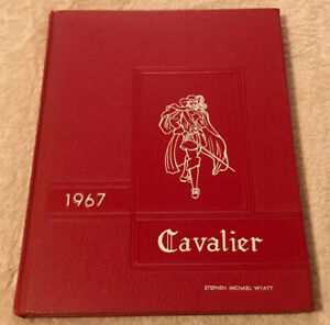 Vintage 1967 The Cavalier Chatham High School Chatham, Virginia Yearbook