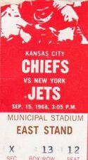 1968 AFL NEW YORK JETS WORLD CHAMPS TICKET STUB @ K C CHIEFS JOE NAMATH 42/140