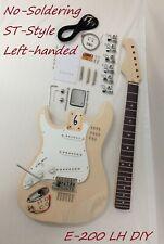 E-200LH-DIY Left-Handed,No-Soldering Electric Guitar DIY Kit+Free Tuner,Picks