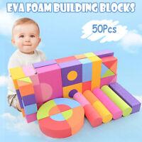 50Pcs EVA Foam Assembled Bricks DIY Model Building Blocks Kids Educational