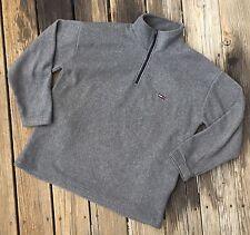 Vintage Tommy Hilfiger Fleece 1/4 Zip Grey Small Flag Medium M