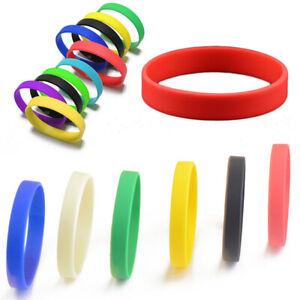Fashion Silicone Rubber Elasticity Wristband Wrist Band Cuff Bracelet Bangle AU