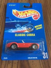 "1991 HOT WHEELS BLUE CARD #31 ""MOVING PART"" CLASSIC COBRA DIECAST"