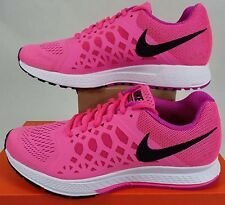 New Womens 11 NIKE Air Zoom Pegasus Pink Fuchsia Run Shoes $100 654486-605