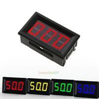 DC 0-100V Voltmeter LED Display Digital Panel Volt Meter Gauge with 3-Wire Lead