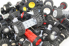 Lego® 50 Reifen Räder mit 25 Achsen für Auto Car Fahrzeug  Sammlung Konvolut
