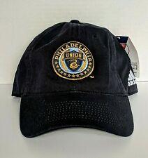 Philadelphia Union MLS Adjustable Hat Cap Adidas Color Black New With Tags
